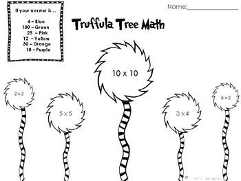 Truffula Tree Math