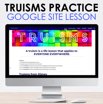 Truisms Google Site Lesson