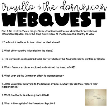 Trujillo & The Dominican Web Quest (In the Time of the Butterflies)