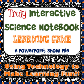 Truly Interactive Science Notebook Game: Mixtures and Solutions FREEBIE