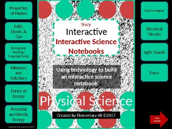 Truly Interactive Science Notebook Game: Physical Science
