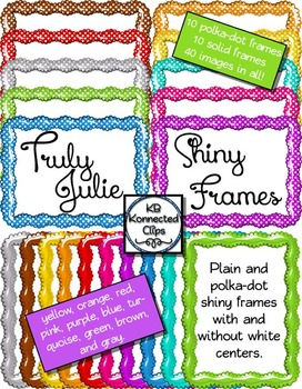 Truly Julie Shiny Frames - Solids and Polka-dots!