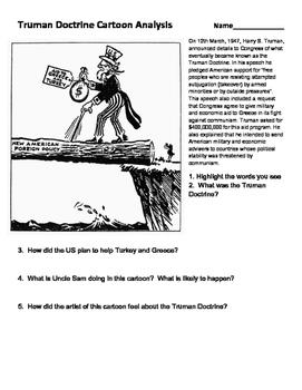 Truman Doctrine - Cartoon Analysis