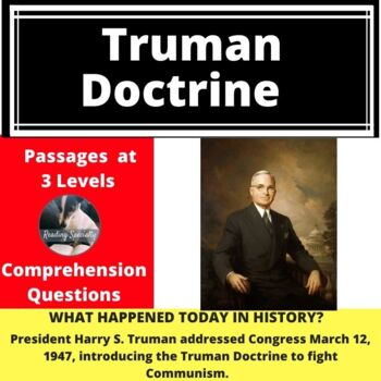 Truman Doctrine Differentiated Reading Passage March 12