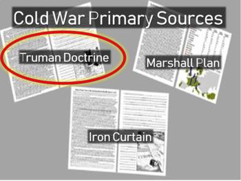Truman Doctrine: Harry Truman - Cold War Primary Source w guiding Qs