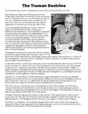 Truman Doctrine Primary Source Analysis Worksheet