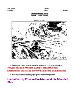 Truman Doctrine- political cartoon