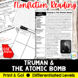 Truman and the Atomic Bomb Reading & Writing Activity (SS5H4, SS5H4c)