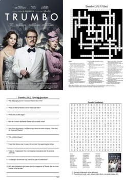 Trumbo (2015) Movie Guide - Active Learning Tasks Bundle