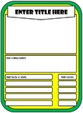 Trump Cards Template 18.4x13.4 (5 stats)