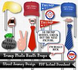Trump Photo Booth Digital Download 26 Piece PDF Printable 300 DPI