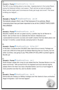 Trump Tweets: Analyzing Capitalization in the Capitol