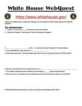 Trump White House WebQuest