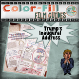 Trump's Inaugural Address Color-Fill Film Guide Doodle Notes