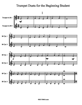 Trumpet Duets for the Beginning Student