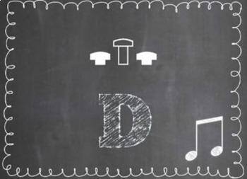 Trumpet Fingering Set {Chalkboard-Themed}