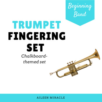 Trumpet Fingering Set {Chalkboard-Themed}