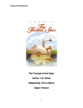 Trumpet of the Swan EB White adapted book summary review q