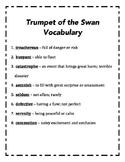 Trumpet of the Swan Vocab