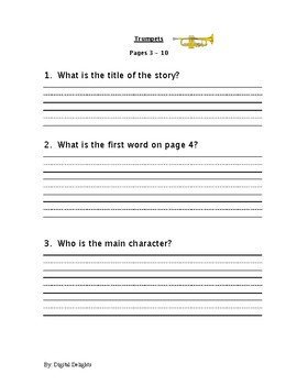 Trumpets by Houghton Mifflin Harcourt Reading Comprehension Questions