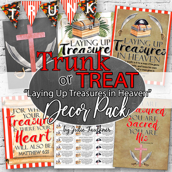 Trunk or Treat Decor Pack, Pirates/Laying Up Treasures in Heaven Theme