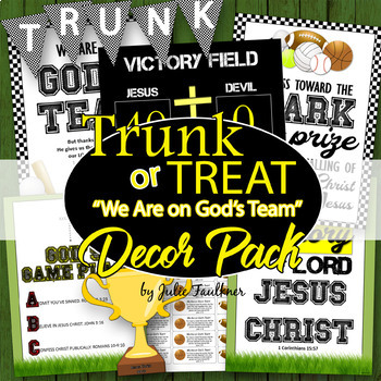 Trunk or Treat Decor Pack, Sports/We Are on God's Team Theme