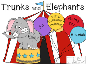 Trunks and Elephants: An Initial Consonant Deletion (ICD) Game & Activities