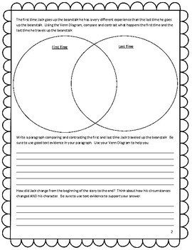 Trust Me, Jack's Beanstalk Stinks! Compare and Contrast Resource