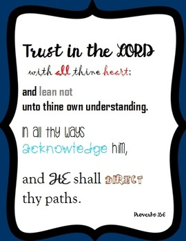 {FREEBIE} Trust in the Lord Poster or Card / Inspiration / Poster