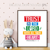 Trust in the Lord with all your heart - Printable bible qu