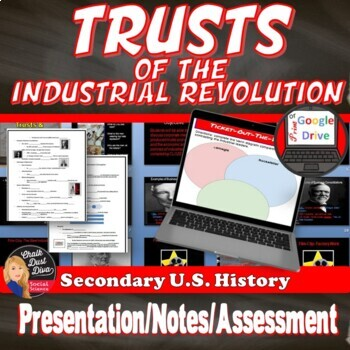 TRUSTS and Government Corruption Industrial Revolution Print and Digital