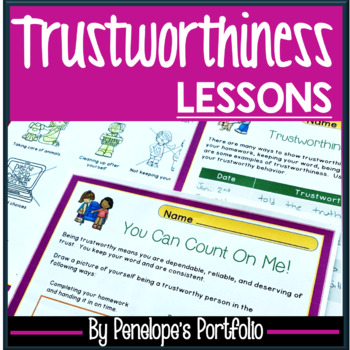 TRUSTWORTHINESS Character Education Packet