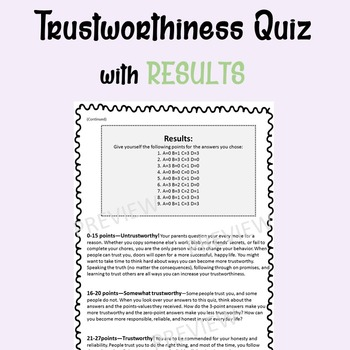 Character Education-Trustworthiness Posters (Success Orientation) 6th-12th