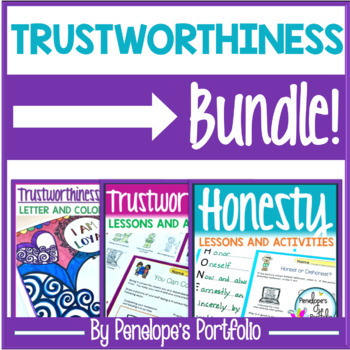 Trustworthiness BUNDLE:  All Trustworthy and Honesty Activities