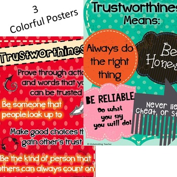 Trustworthiness (Success Orientation, Character Education) 3rd - 6th