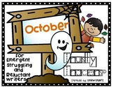Trusty Tracers - OCTOBER THEME- Early Writers (NO PREP)
