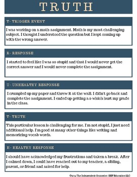 Emotional Regulation: Truth Activity