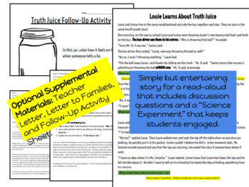 Truth Juice- A lesson in honesty and accountability