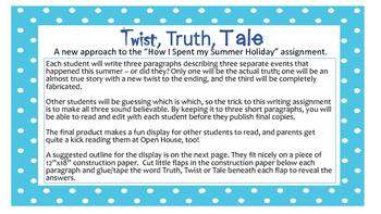 Truth, Twist or Tale?