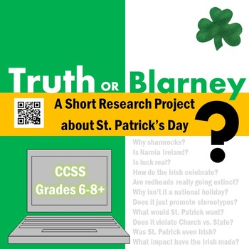 St. Patrick's Day Research Project: Truth or Blarney?