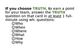 Truth or Dare ESL, ELA or other; super-FUN wh-question activity