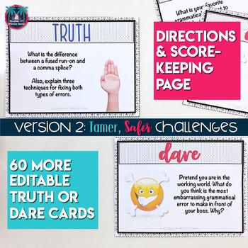 Truth or Dare Grammar Game (6-12 Grades)