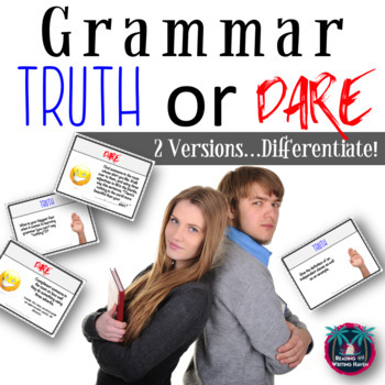 Truth or Dare Grammar Review Game for Centers, Stations, Test Prep, and More