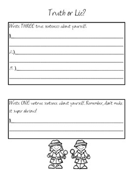 Truth or Lie? A Back to School Activity
