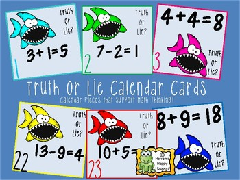 Calendar Date Cards -  Truth or Lie Equations