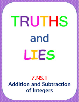Truths and Lies - Add and Subtract Integers