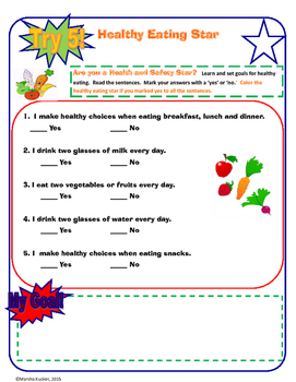 Healthy Eating/Nutrition  Bundle Grades  K-1