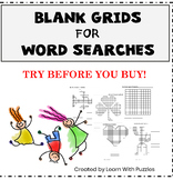 Try Before You Buy - Blank Word Search Grids Puzzle Sampler