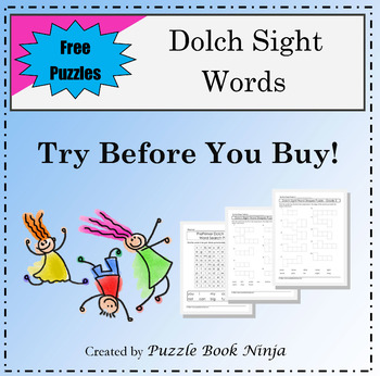 Try Before You Buy - Dolch Sight Words Puzzle Sampler