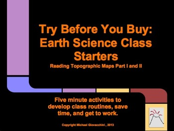 Try Before You Buy: Earth Science Class Starters